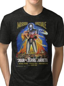 Grindhouse Lounge presents:The Day the Earth Stood Still(French promo) Tri-blend T-Shirt