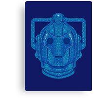 Snowflake Cyberman - Tardis Blue Canvas Print