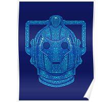 Snowflake Cyberman - Tardis Blue Poster