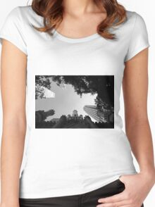 water tower Women's Fitted Scoop T-Shirt