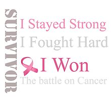 Survivor I won! breast cancer (pink ribbon)  by B9Cre8tions