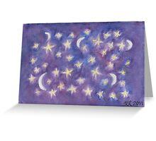 Playful Stars Greeting Card