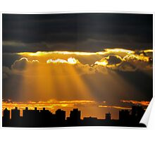 New York City sunset Poster
