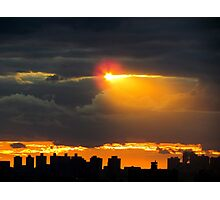 Here comes the sun, New York City  Photographic Print
