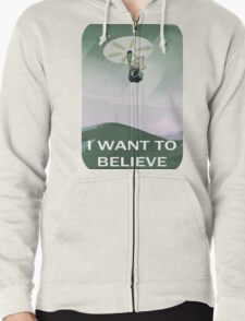 I WANT TO BELIEVE Zipped Hoodie