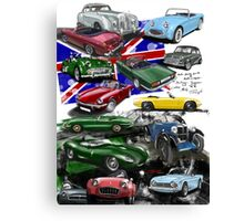 British Sports Cars Canvas Print