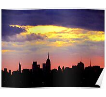 New York City shadow Poster