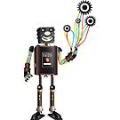 """Robot & His Mechanical Balloons"" by rosell"