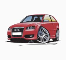 Audi S3 (Mk2) Red One Piece - Long Sleeve