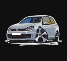 VW Golf (Mk6) GTi Silver Kids Tee