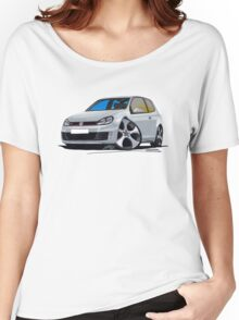 VW Golf (Mk6) GTi Silver Women's Relaxed Fit T-Shirt