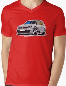 VW Golf (Mk6) GTi Silver Mens V-Neck T-Shirt