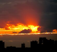 Ripped sky, New York City  by Alberto  DeJesus