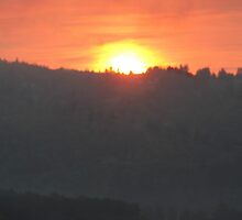 Golden Sunrise Over the Columbia River 2 by Dawna Morton