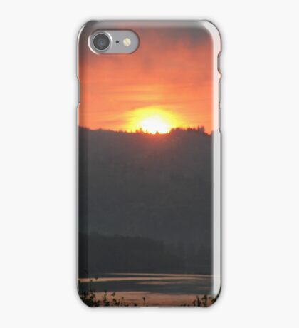 Golden Sunrise Over the Columbia River 2 iPhone Case/Skin