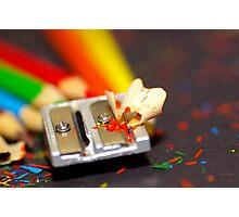 Rainbow Sharpener Photographic Print