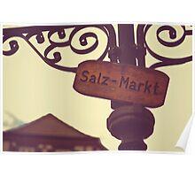 Market sign  Poster