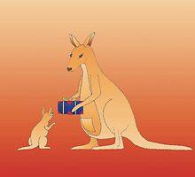 Kangaroo Christmas by 123jim