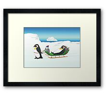 Penguin  Christmas Framed Print