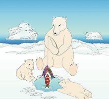 Polar Bear  Christmas by 123jim