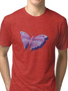 purple butterfly Tri-blend T-Shirt
