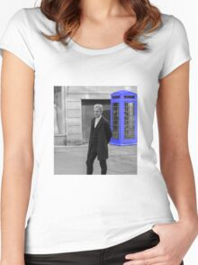 Doctor Who Mad Man In a Blue Box Women's Fitted Scoop T-Shirt