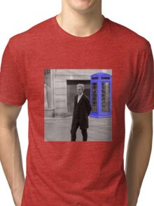 Doctor Who Mad Man In a Blue Box Tri-blend T-Shirt