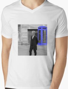 Doctor Who Mad Man In a Blue Box Mens V-Neck T-Shirt