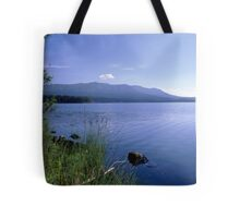 Blue lake and sky Tote Bag