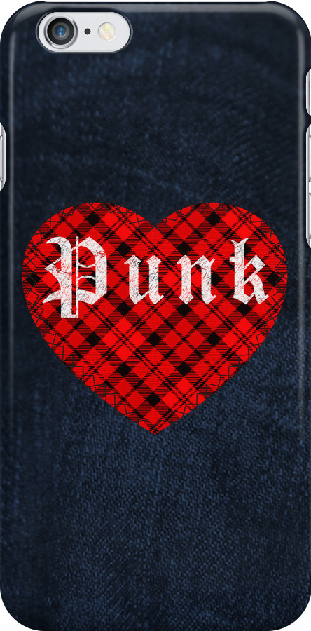Red Tartan Punk Heart by Chuffy