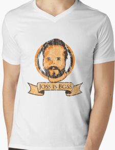 Joss Is Boss Mens V-Neck T-Shirt