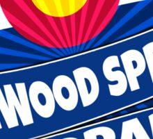 Glenwood Springs Colorado flag burst Sticker