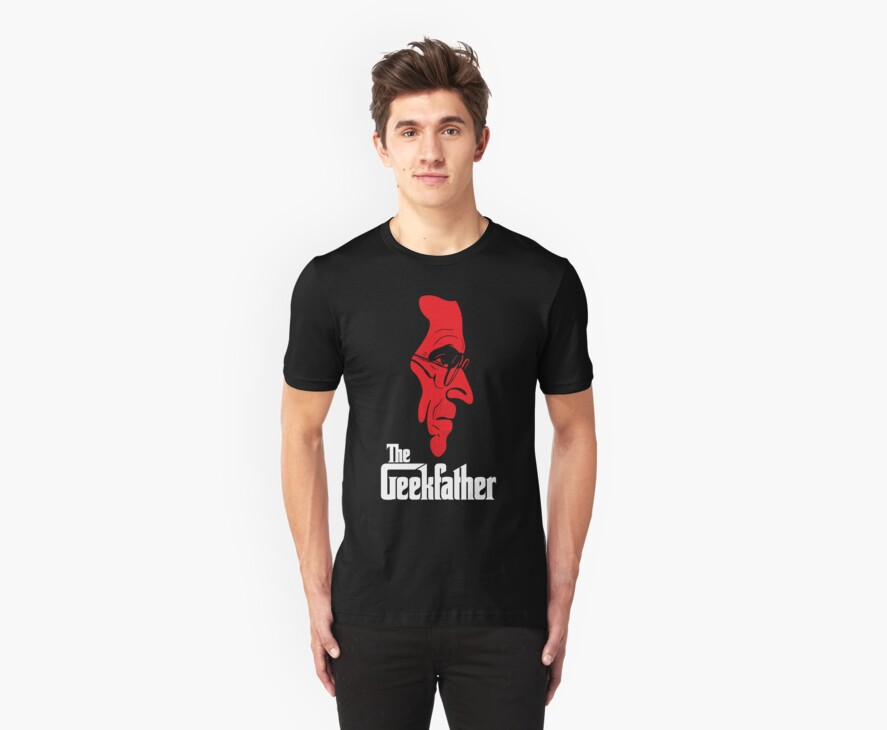 The Geekfather (White/Red print) by GritFX