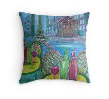 Parisian Fantasy Throw Pillow
