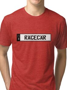 Euro plate simple - racecar Tri-blend T-Shirt