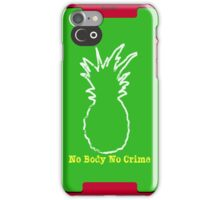No Body No Crime iPhone Case/Skin