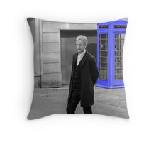 Doctor Who Mad Man In a Blue Box Throw Pillow