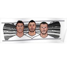 BBC - Bale Benzema Cristiano Poster