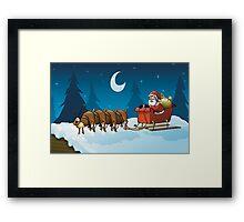 Santa Problems Framed Print