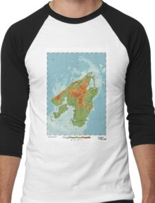 Canis - Land of the Wolf Men's Baseball ¾ T-Shirt