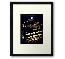 Vintage typewriter Framed Print