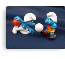 Bowling & Soccer Smurf Canvas Print