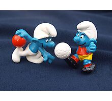 Bowling & Soccer Smurf Photographic Print