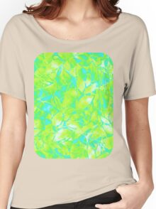 Grunge Art Floral Abstract Women's Relaxed Fit T-Shirt