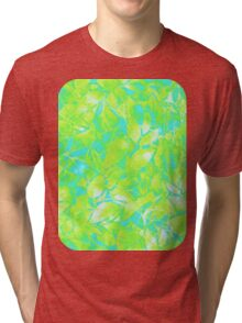 Grunge Art Floral Abstract Tri-blend T-Shirt
