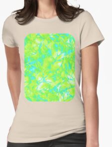 Grunge Art Floral Abstract Womens Fitted T-Shirt