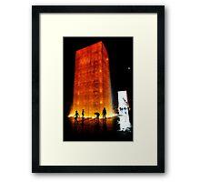 Crown Fountain,  Millennium park, Chicago architecture Framed Print