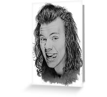 Pencil portrait of Harry Styles Greeting Card