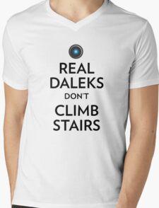Real Daleks Don't Climb Stairs Mens V-Neck T-Shirt