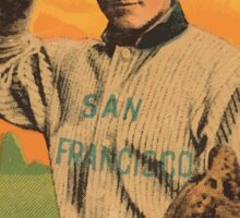 Benjamin K Edwards Collection Berry San Francisco Team baseball card portrait 001 Sticker